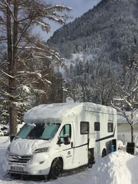 Dethleffs Wohnmobil fürs Wintercamping
