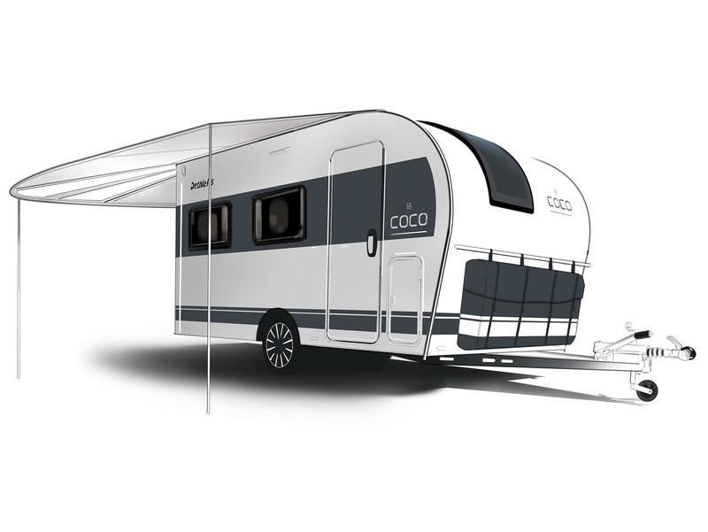 Wohnwagen Mit Etagenbett Und Einzelbetten : Ultraleicht multifunktional und schön coco der caravan